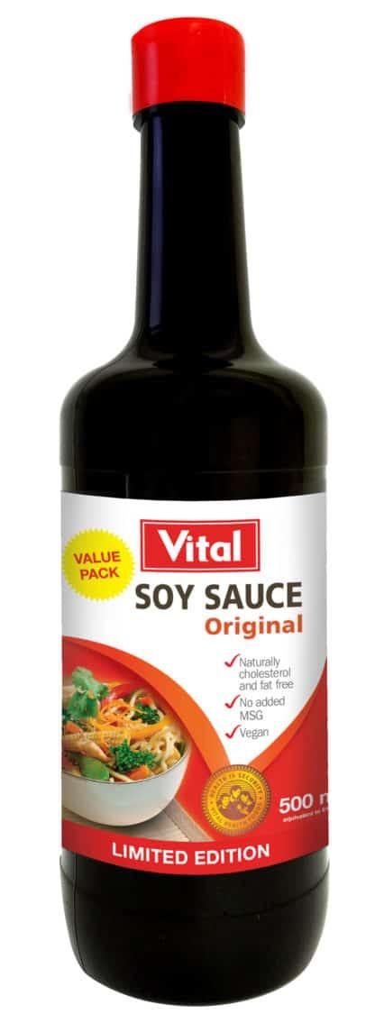 soy sauce, vital, foods, healthy, halaal, Vital Health Foods