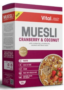 vital muesli cranberry and coconut