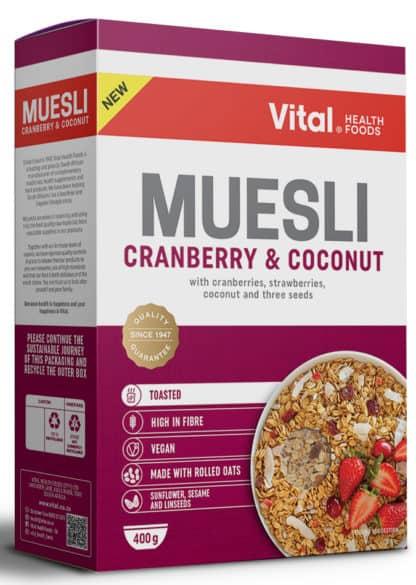 vital muesli cranberry and coconut