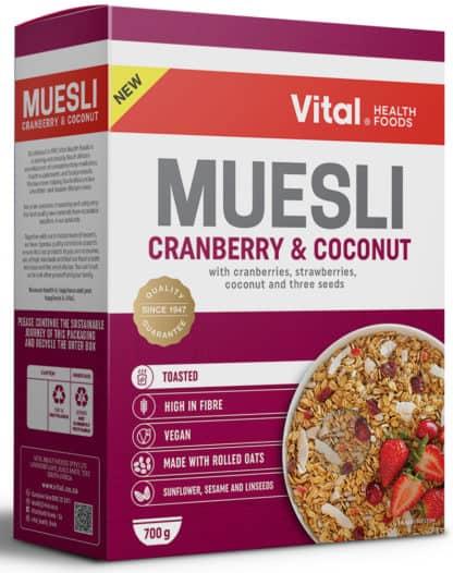 vital muesli cranberry and coconut 700g