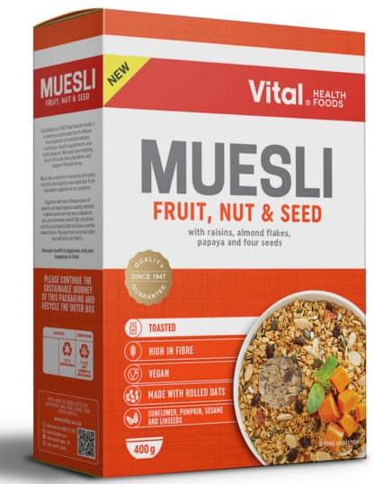 vital muesli fruit nut and seeds 400g