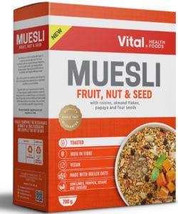vital muesli fruit nut and seed