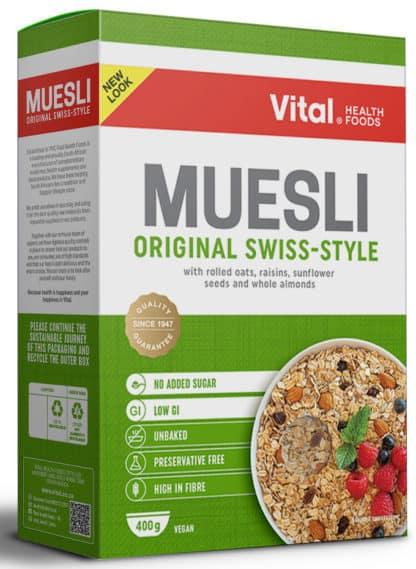 vital muesli original swiss-styled 400g