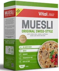 vital muesli original swiss-styled 700g