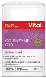 vital co-enzyme q10, vital health foods, oxidative stress, antioxidant, protecting cells, healthy cells