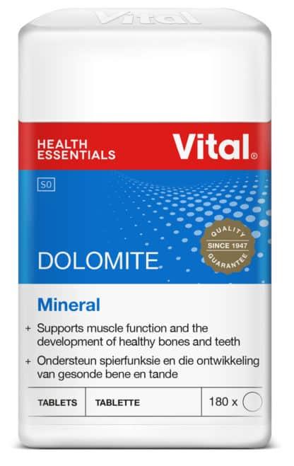vital dolomite, minerals, healthy bones and teeth