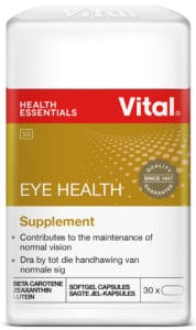 vital eye health, vision, vitamins, minerals, vital, halaal, family, daily dose