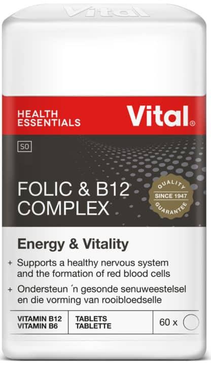 vital folic and B12 complex, vital health foods, vital, b-vitamins