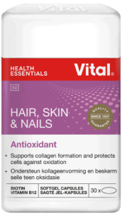 vital hair skin and nails, logo, pack shot, branded label