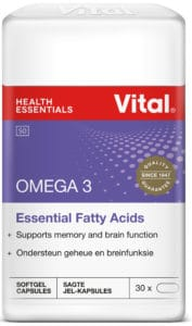 vital omega 3, brain food, mental performance, concentration, good memory, cirulation