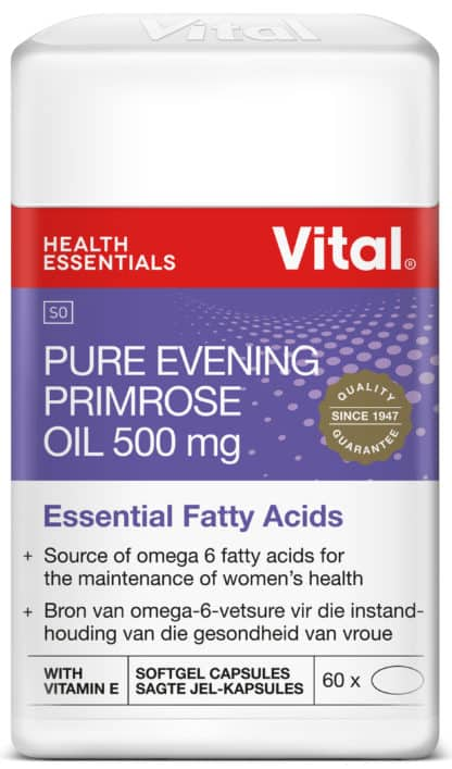 vital evening primrose oil, vital, healthy skin, healthy nails, hormone balance