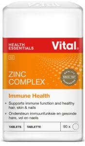 vital zinc complex, immune health, zinc, minerals, vital, vital health foods, healthy hair, strong nails