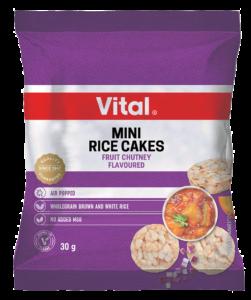 vital mini rice cakes 30g purple packet